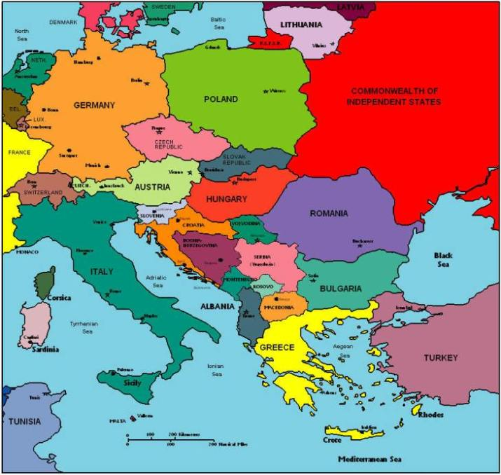 28 Current Map Of Europe Related Keywords: Current Political Map Of Europe At Infoasik.co