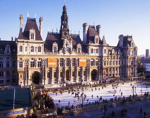Les Deux Magots Famous Cafe Restaurant Near Our Hotel De Ville The City Hall Of Paris With Ice Skating